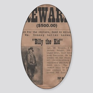 Billy the Kid Wanted Poster by McMi Sticker (Oval)