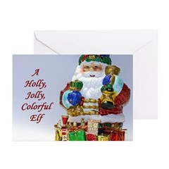 Jolly Colorful Elf Greeting Cards (Pk of 20)