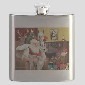 Santa with his Mama Llama Baby Flask