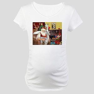 Santa with his Mama Llama Baby Maternity T-Shirt