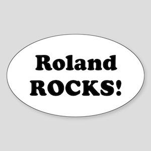 Roland Rocks! Oval Sticker