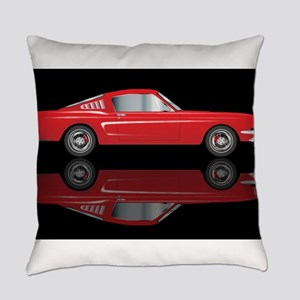 Very Fast Red Car Everyday Pillow
