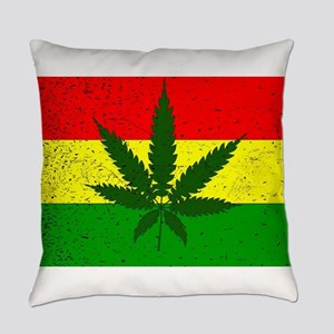 Rastafarian Flag Everyday Pillow