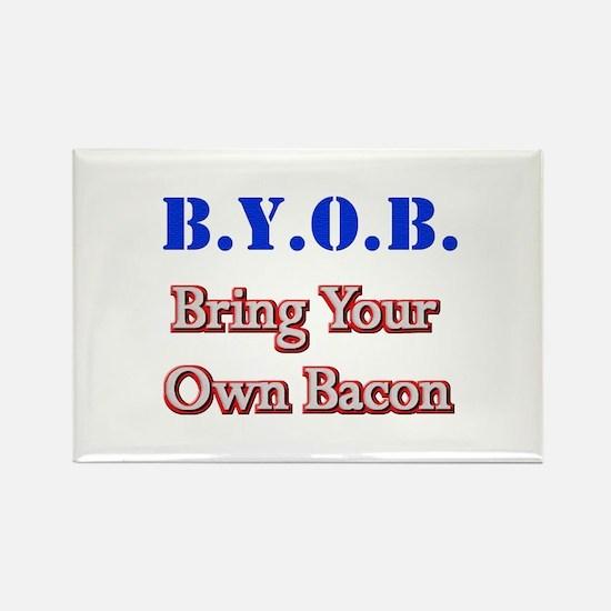 BYOB Bacon Rectangle Magnet