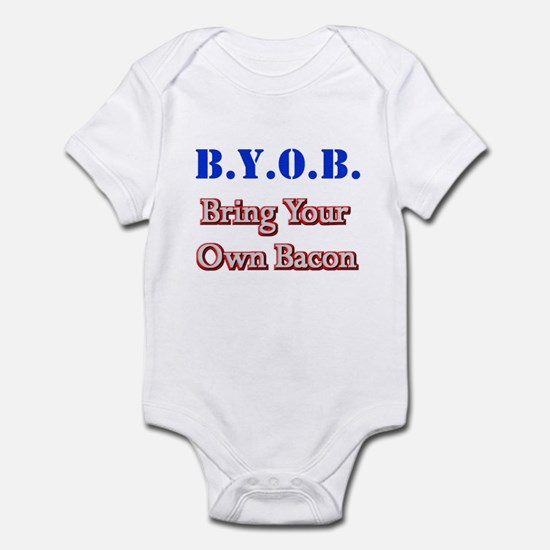 BYOB Bacon Infant Bodysuit