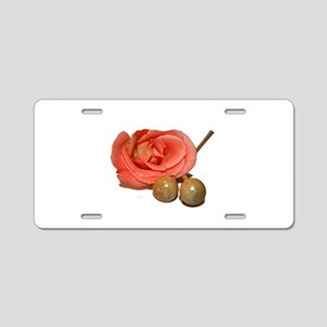Rose with wooden percussion bell mallets cutout Al