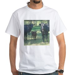 black angus White T-Shirt
