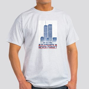 """Elephants Never Forget"" Ash Grey T-Shirt"