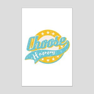 Choose Happy Mini Poster Print