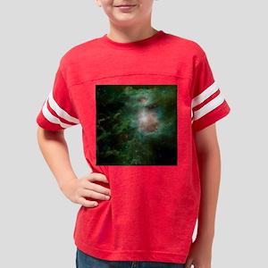 burlap throw pillow Youth Football Shirt