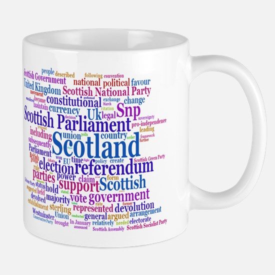 Scottish Independence Concept Cloud Mugs