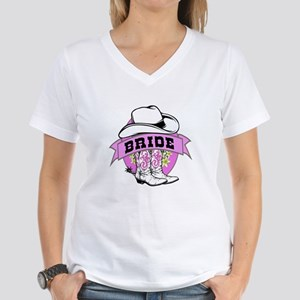 Cowgirl Bride Women's V-Neck T-Shirt