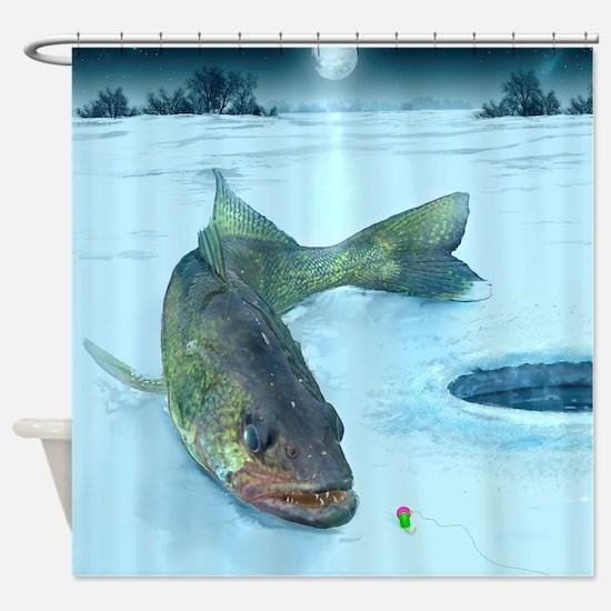 Walleye Ice Shower Curtain