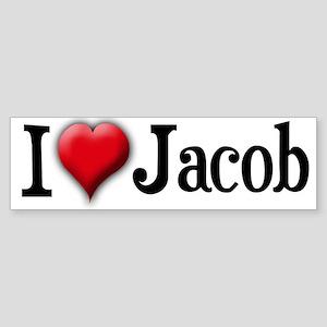 I Love (Heart) Jacob Bumper Sticker