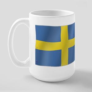 Pure Flag of Sweden Large Mug