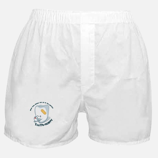 Tooth-Hurty - Dark Text Boxer Shorts