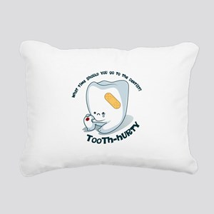 Tooth-Hurty - Dark Text Rectangular Canvas Pillow