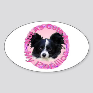 Papillon Oval Sticker