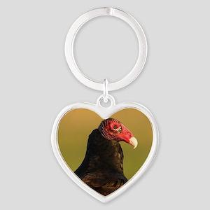 turkey vulture Heart Keychain