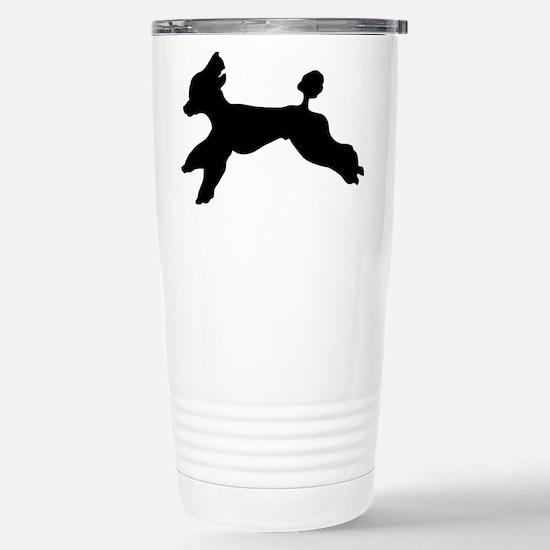 Standard Poodle Running Travel Mug