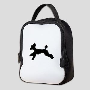 Standard Poodle Running Neoprene Lunch Bag