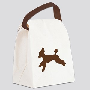 Standard Poodle Running Canvas Lunch Bag