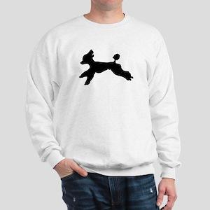Standard Poodle Running Sweatshirt