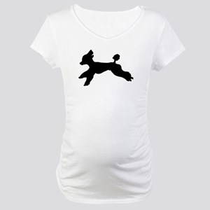 Standard Poodle Running Maternity T-Shirt