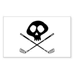 Golf Pirate Rectangle Decal