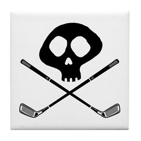 Golf Pirate Tile Coaster