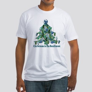 Christmas in the Southwest Fitted T-Shirt