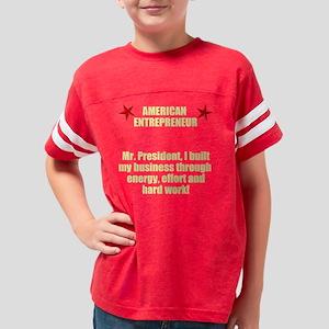 American Entrepreneur Youth Football Shirt