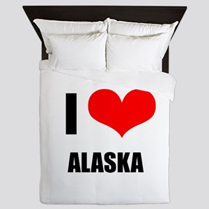 I Love Alaska Queen Duvet