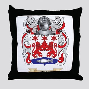 Neal Coat of Arms (Family Crest) Throw Pillow