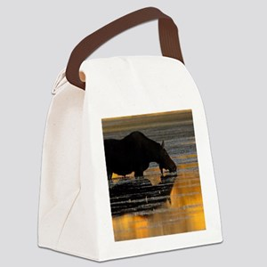 Moose & Fall Reflections Canvas Lunch Bag