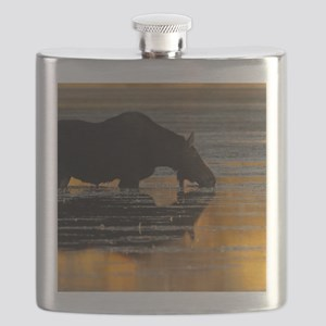 Moose & Fall Reflections Flask