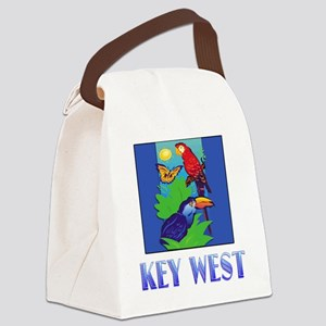 Macaw, Parrot, Butterfly, Jungle KEY WEST Canvas L