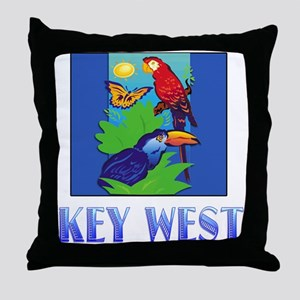 Macaw, Parrot, Butterfly, Jungle KEY WEST Throw Pi