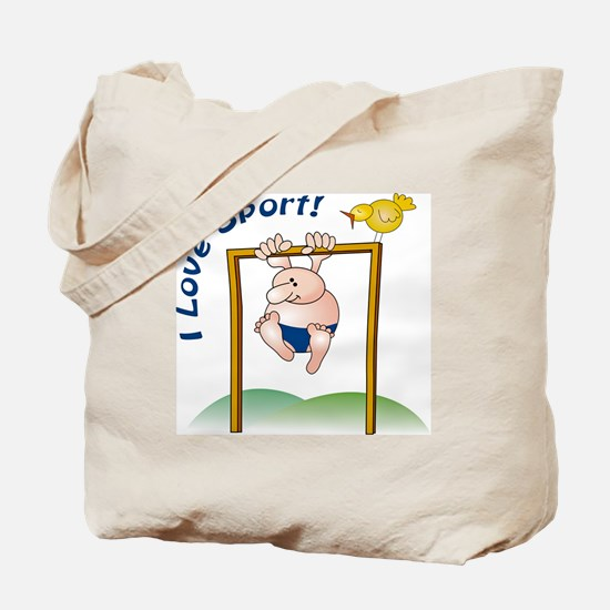 Funny Sportsman Tote Bag