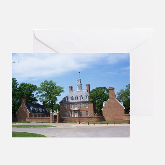GOVORNORS PALACE COLONIAL WILLIAMSBU Greeting Card