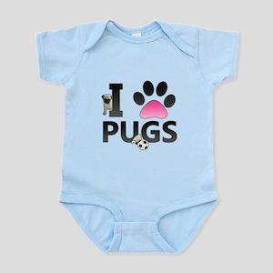 I Love Pugs Body Suit
