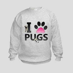 I Love Pugs Sweatshirt