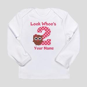 2nd Birthday Owl Long Sleeve T-Shirt