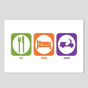 Eat Sleep Scoot Postcards (Package of 8)