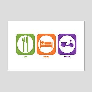 Eat Sleep Scoot Mini Poster Print