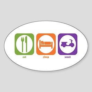 Eat Sleep Scoot Oval Sticker
