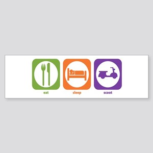 Eat Sleep Scoot Bumper Sticker