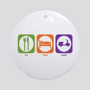 Eat Sleep Scoot Ornament (Round)