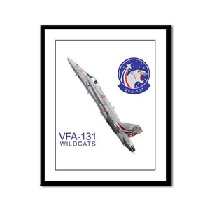 VFA-131 Wildcats Framed Panel Print