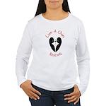 Luv A Chin Ladies Long Sleeve T-Shirt(white)